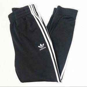 Adidas Black & White Striped Joggers